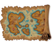 Pirate Map Stock Image