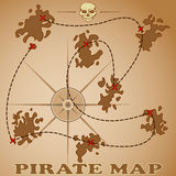 Pirate map Stock Photo