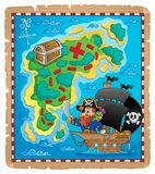 Pirate map theme image 1 Royalty Free Stock Image