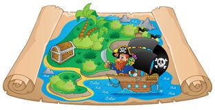 Pirate map theme image 2 Royalty Free Stock Photography
