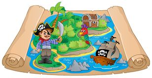 Pirate map theme image 4 Stock Images