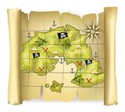 Pirate map Royalty Free Stock Photography