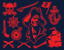 Pirate mascot set Royalty Free Stock Photography