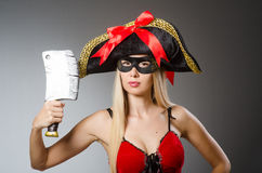 Pirate with mask Royalty Free Stock Photography