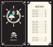 Pirate menu Royalty Free Stock Image