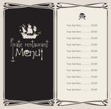 Pirate menu Royalty Free Stock Image