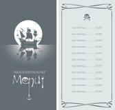 Pirate menu Royalty Free Stock Photos
