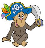 Pirate monkey Royalty Free Stock Photography