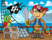 Pirate monkey topic 2 Stock Image