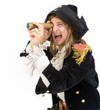 Pirate and monoscope Stock Images