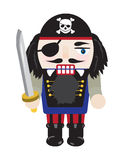 Pirate Nutcracker. Illustration of a fun and festive pirate nutcracker royalty free illustration