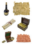 Pirate objects isolated stock image