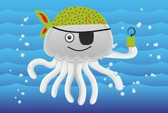 Pirate octopus Royalty Free Stock Photo