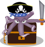 Pirate octopus Stock Photo