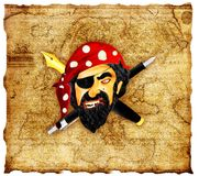 Pirate at office Royalty Free Stock Image