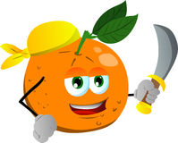 Pirate orange with sword Stock Photography