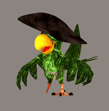 Pirate Parrot. Digital animal for your artistic creations and/or projects Royalty Free Stock Photography