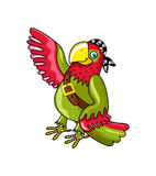 Pirate parrot in bandana vector icon Royalty Free Stock Photography