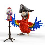 Pirate parrot cartoon. This funny pirate parrot cartoon will be a very cool choice for your illustration or project Stock Photography