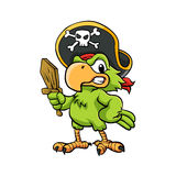 Pirate Parrot Cartoon Illustration Stock Photos