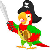 Pirate parrot cartoon Stock Photo