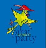 Pirate parrot cartoon Royalty Free Stock Photos