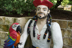 Pirate with parrot and dreadlocks Royalty Free Stock Photography