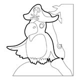 Pirate parrot icon outline Royalty Free Stock Images