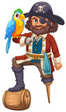 Pirate and parrot Royalty Free Stock Photos