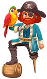 Pirate and parrot Royalty Free Stock Photography