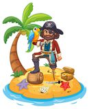 Pirate and parrot Royalty Free Stock Image