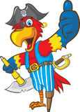 Pirate Parrot. Vector illustration of  a pirate parrot mascot doing thumbs up Stock Image