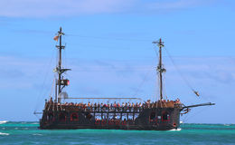 Pirate party boat in Punta Cana, Dominican Republic Royalty Free Stock Image