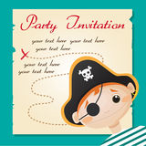 Pirate party invitation. Vector illustration Royalty Free Stock Photography