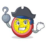 Pirate passion fruit character cartoon. Vector illustration Royalty Free Stock Photos