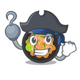 Pirate pat thai isolated in the cartoon. Vector illustration royalty free illustration
