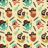 Pirate pattern Stock Image