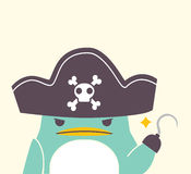 Pirate Penguin. Vector File EPS10 Royalty Free Stock Photos