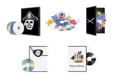 Pirate piracy software Royalty Free Stock Photography