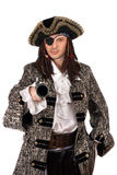 Pirate with a pistol in hand Stock Images