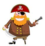 Pirate with Pistol and Sword royalty free stock photo