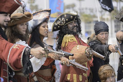 Pirate pistols Royalty Free Stock Photography