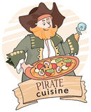 Pirate pizza Royalty Free Stock Photos
