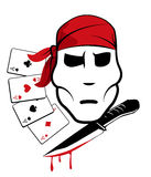 Pirate and playing cards Royalty Free Stock Photography