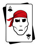 Pirate and playing cards Stock Photography