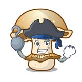 Pirate portobello mushroom character cartoon Stock Photos