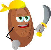 Pirate potato with sword Stock Photography