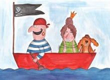 Pirate and Princess Stock Photos