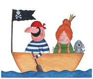 Pirate and Princess Royalty Free Stock Photography