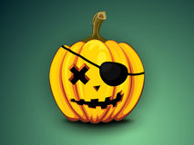 Pirate pumpkin Royalty Free Stock Photography